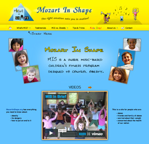 Mozart In Shape Website